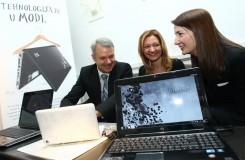 Tehnologija je u modi, Erik Lalier, direktor HP grupe za Evropska trzista, Vesna Rakic, HP PSG marketing menadzer, Dragana Ognjenovic i HP Pavilion dv6